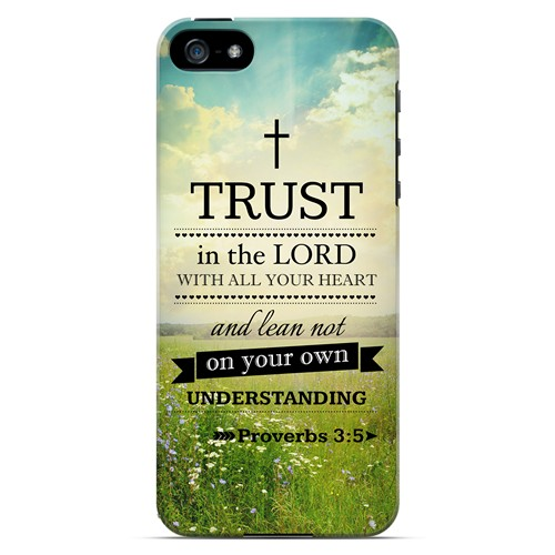 Proverbs 3:5 - Geeks Designer Line Bible Series Hard Case for Apple iPhone 5/5S