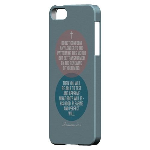 Romans 12:2 - Geeks Designer Line Bible Series Hard Case for Apple iPhone 5/5S