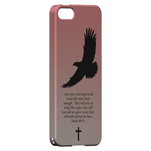 Isaiah 40:31 - Wisp Pink - Geeks Designer Line Bible Series Hard Case for Apple iPhone 5/5S