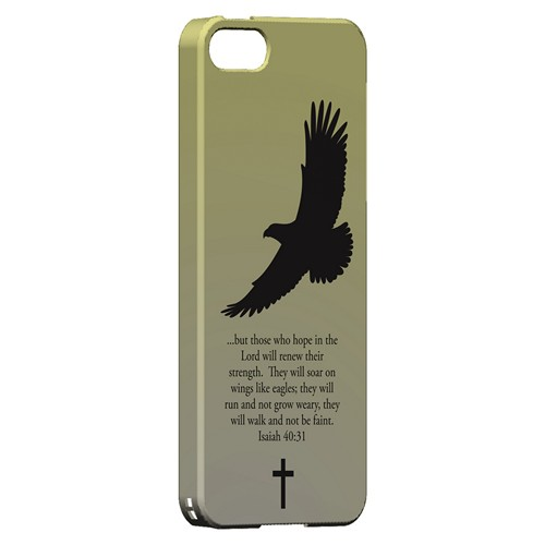 Isaiah 40:31 - Sunset Yellow - Geeks Designer Line Bible Series Hard Case for Apple iPhone 5/5S