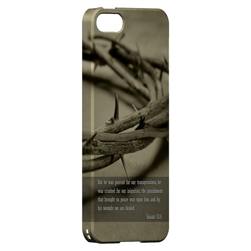 Isaiah 53:5 - Geeks Designer Line Bible Series Hard Case for Apple iPhone 5/5S