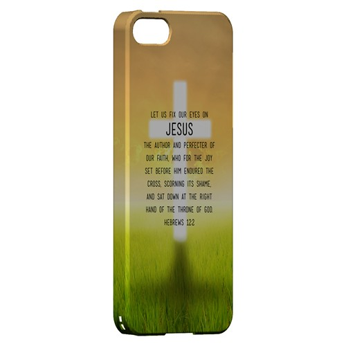 Hebrews 12:2 - Geeks Designer Line Bible Series Hard Case for Apple iPhone 5/5S