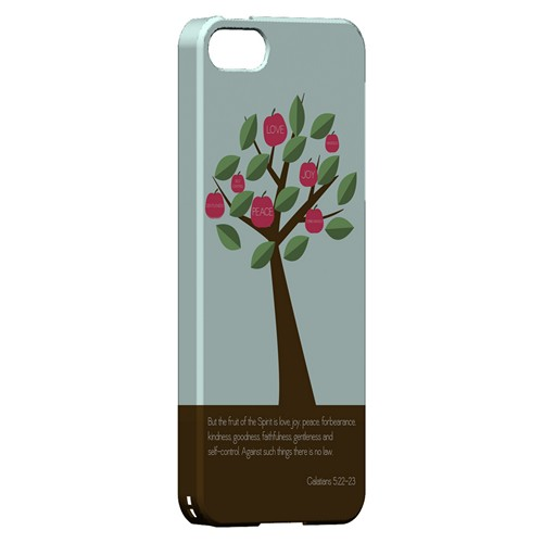 Galatians 5:22-23 - Geeks Designer Line Bible Series Hard Case for Apple iPhone 5/5S