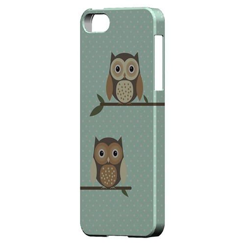 Retro Owls on Polka Dots - Geeks Designer Line Owl Series Hard Case for Apple iPhone 5/5S