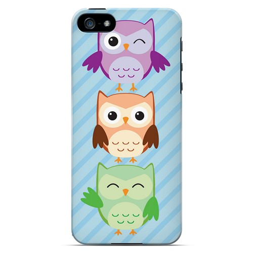 Happy Owl Pals - Geeks Designer Line Owl Series Hard Case for Apple iPhone 5/5S