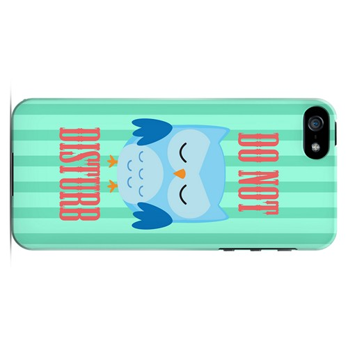 Do Not Disturb - Geeks Designer Line Owl Series Hard Case for Apple iPhone 5/5S