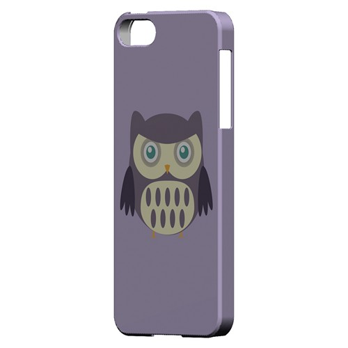 Chubby Purple Owl - Geeks Designer Line Owl Series Hard Case for Apple iPhone 5/5S