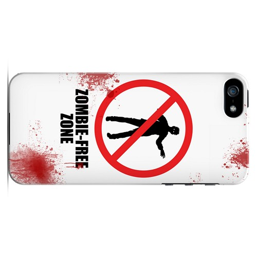 Zombie-Free Zone - Geeks Designer Line Apocalyptic Series Hard Case for Apple iPhone 5/5S