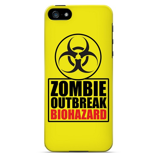 Zombie Outbreak Biohazard - Geeks Designer Line Apocalyptic Series Hard Case for Apple iPhone 5/5S