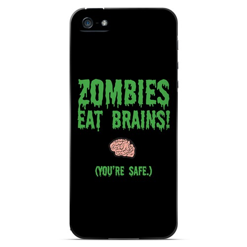 Zombies Eat Brains - Geeks Designer Line Apocalyptic Series Hard Case for Apple iPhone 5/5S