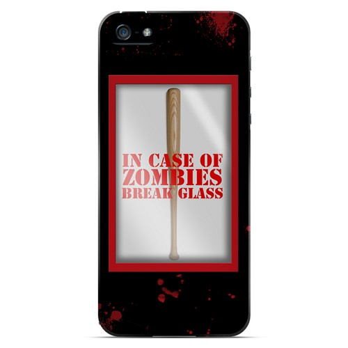 In Case of Zombies Break Glass - Geeks Designer Line Apocalyptic Series Hard Case for Apple iPhone 5/5S