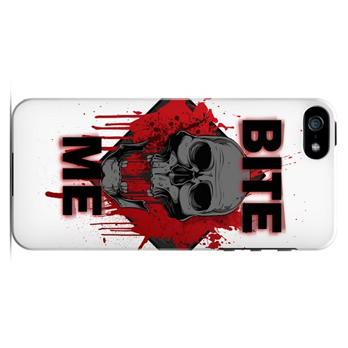 Bite Me on White - Geeks Designer Line Apocalyptic Series Hard Case for Apple iPhone 5/5S