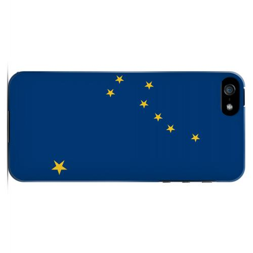Alaska - Geeks Designer Line Flag Series Hard Back Case for Apple iPhone 5/5S