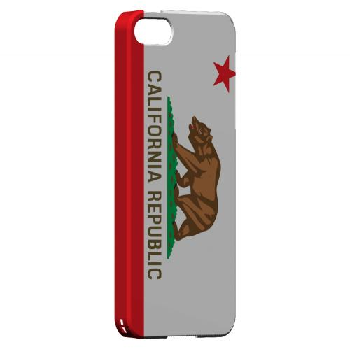 California - Geeks Designer Line Flag Series Hard Back Case for Apple iPhone 5/5S