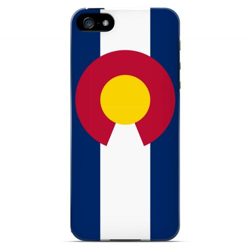 Colorado - Geeks Designer Line Flag Series Hard Back Case for Apple iPhone 5/5S