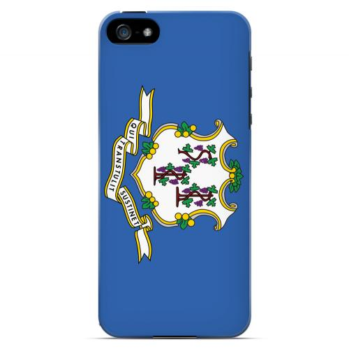 Connecticut - Geeks Designer Line Flag Series Hard Back Case for Apple iPhone 5/5S