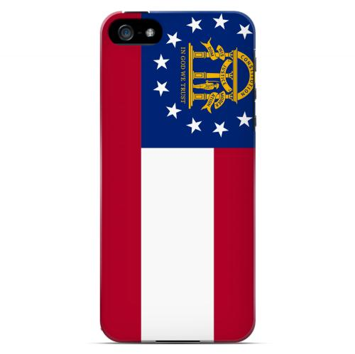 Georgia - Geeks Designer Line Flag Series Hard Back Case for Apple iPhone 5/5S