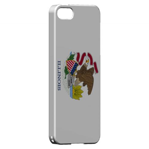 Illinois - Geeks Designer Line Flag Series Hard Back Case for Apple iPhone 5/5S
