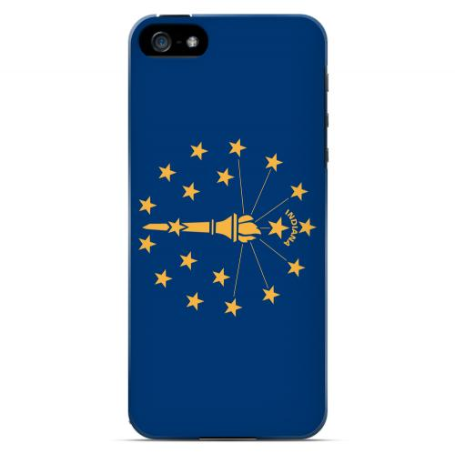 Indiana - Geeks Designer Line Flag Series Hard Back Case for Apple iPhone 5/5S