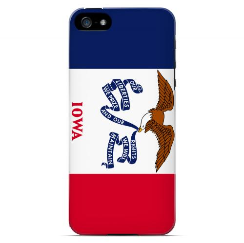 Iowa - Geeks Designer Line Flag Series Hard Back Case for Apple iPhone 5/5S