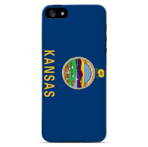 Kansas - Geeks Designer Line Flag Series Hard Back Case for Apple iPhone 5/5S