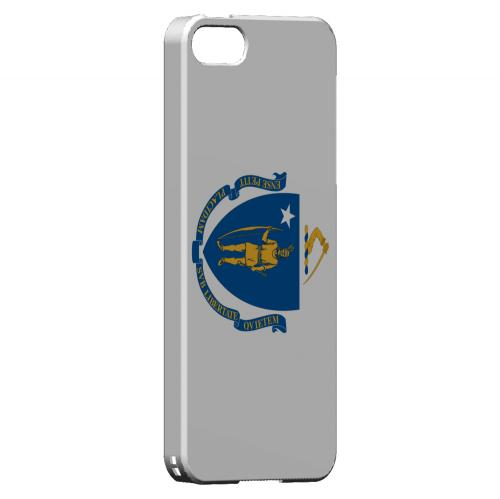 Massachusetts - Geeks Designer Line Flag Series Hard Back Case for Apple iPhone 5/5S