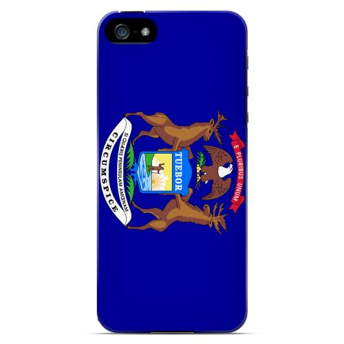 Michigan - Geeks Designer Line Flag Series Hard Back Case for Apple iPhone 5/5S