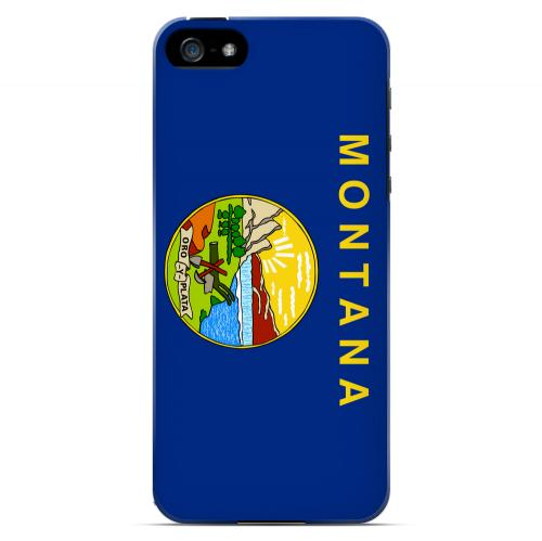 Montana - Geeks Designer Line Flag Series Hard Back Case for Apple iPhone 5/5S