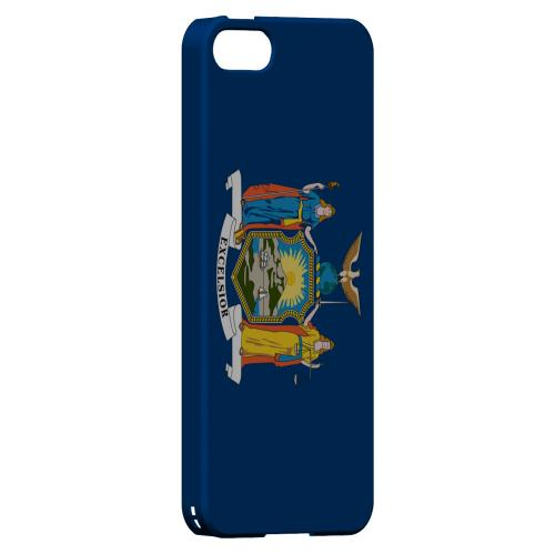 New York - Geeks Designer Line Flag Series Hard Back Case for Apple iPhone 5/5S