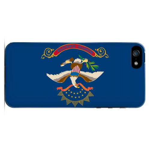 North Dakota - Geeks Designer Line Flag Series Hard Back Case for Apple iPhone 5/5S