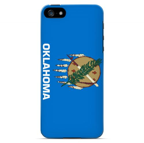 Oklahoma - Geeks Designer Line Flag Series Hard Back Case for Apple iPhone 5/5S