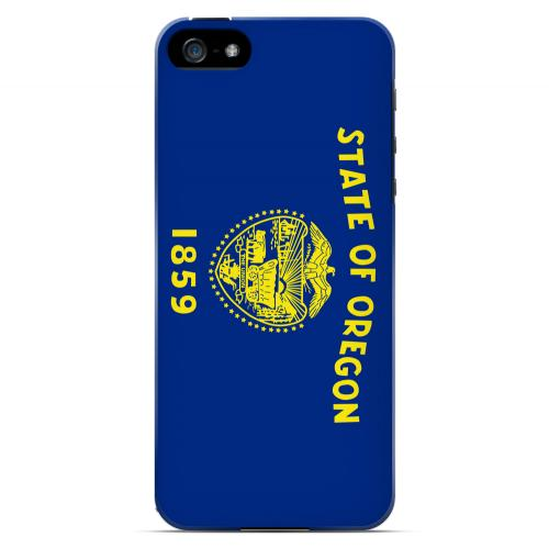 Oregon - Geeks Designer Line Flag Series Hard Back Case for Apple iPhone 5/5S