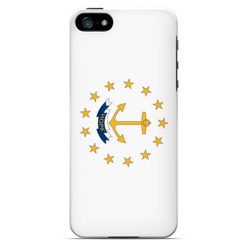 Rhode Island - Geeks Designer Line Flag Series Hard Back Case for Apple iPhone 5/5S