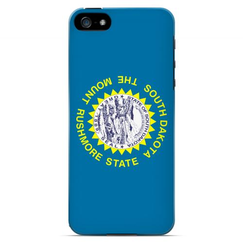 South Dakota - Geeks Designer Line Flag Series Hard Back Case for Apple iPhone 5/5S