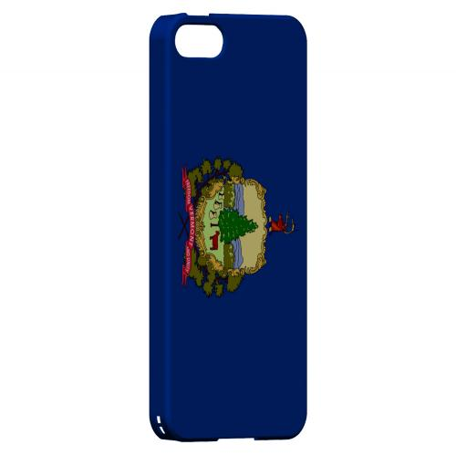 Vermont - Geeks Designer Line Flag Series Hard Back Case for Apple iPhone 5/5S