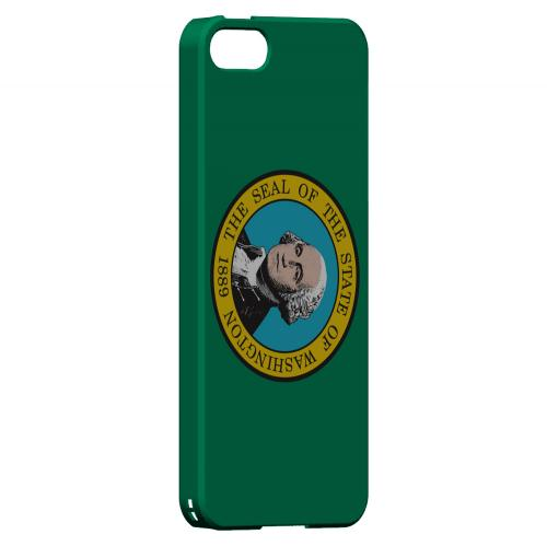 Washington - Geeks Designer Line Flag Series Hard Back Case for Apple iPhone 5/5S