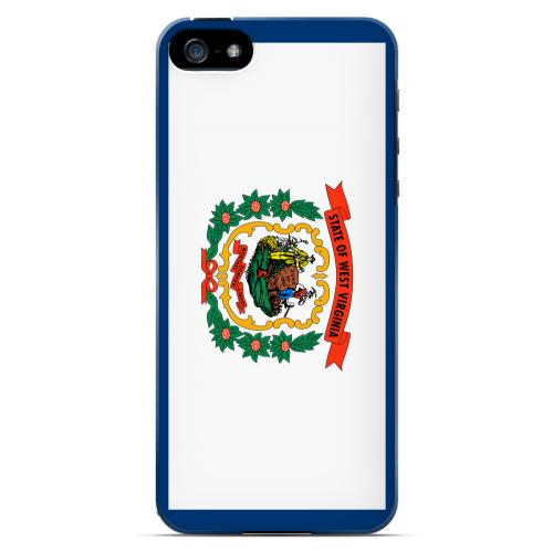 West Virginia - Geeks Designer Line Flag Series Hard Back Case for Apple iPhone 5/5S