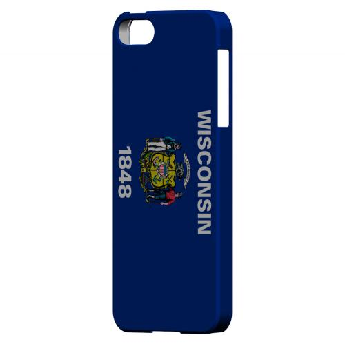 Wisconsin - Geeks Designer Line Flag Series Hard Back Case for Apple iPhone 5/5S
