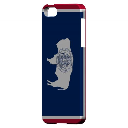 Wyoming - Geeks Designer Line Flag Series Hard Back Case for Apple iPhone 5/5S