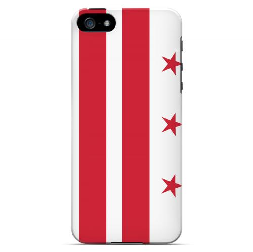 Washington  D.C. - Geeks Designer Line Flag Series Hard Back Case for Apple iPhone 5/5S