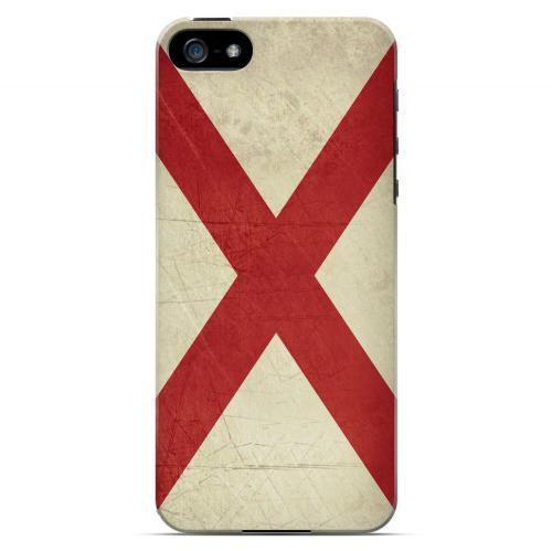 Grunge Alabama - Geeks Designer Line Flag Series Hard Case for Apple iPhone 5/5S