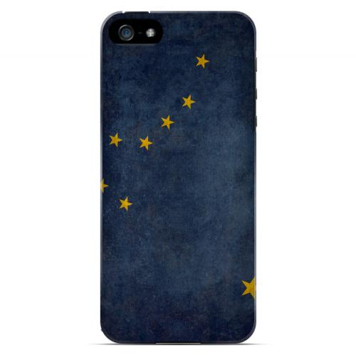 Grunge Alaska - Geeks Designer Line Flag Series Hard Case for Apple iPhone 5/5S
