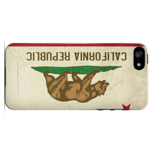Grunge California - Geeks Designer Line Flag Series Hard Case for Apple iPhone 5/5S