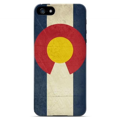 Grunge Colorado - Geeks Designer Line Flag Series Hard Case for Apple iPhone 5/5S