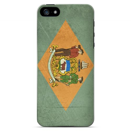Grunge Delaware - Geeks Designer Line Flag Series Hard Case for Apple iPhone 5/5S