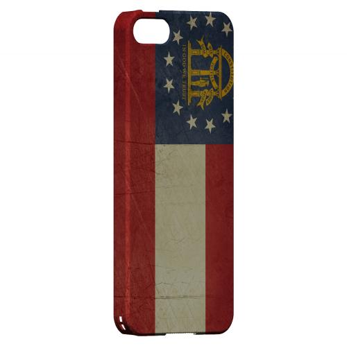 Grunge Georgia - Geeks Designer Line Flag Series Hard Case for Apple iPhone 5/5S