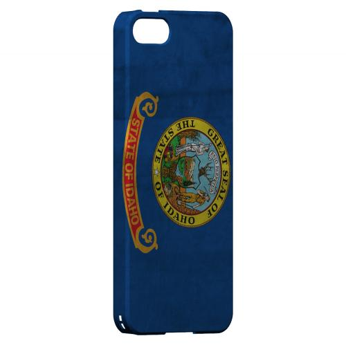Grunge Idaho - Geeks Designer Line Flag Series Hard Case for Apple iPhone 5/5S