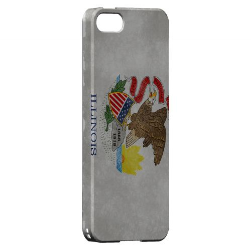 Grunge Illinois - Geeks Designer Line Flag Series Hard Case for Apple iPhone 5/5S