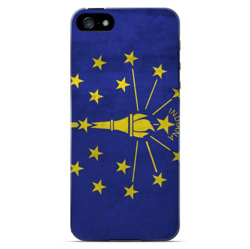 Grunge Indiana - Geeks Designer Line Flag Series Hard Case for Apple iPhone 5/5S