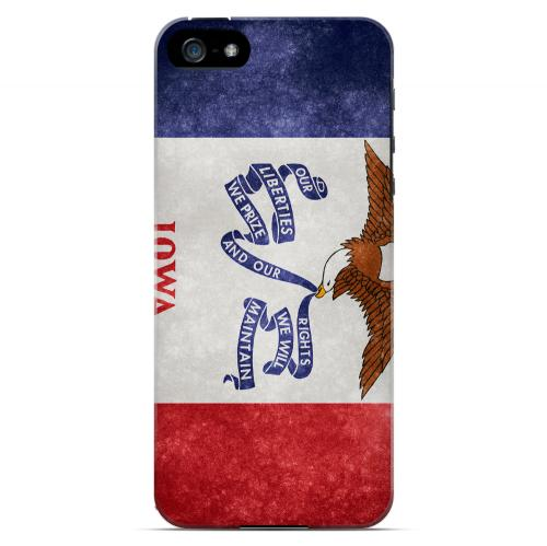 Grunge Iowa - Geeks Designer Line Flag Series Hard Case for Apple iPhone 5/5S